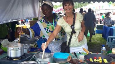 World Veg Fest, la Mecque des végétariens! Valérie en cuisinière africaine