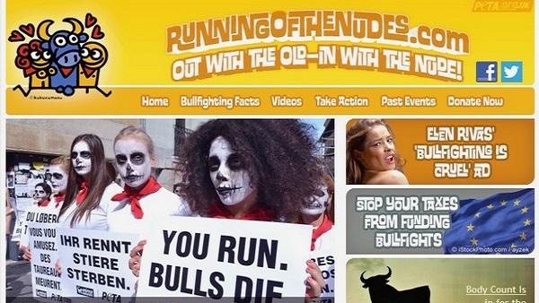 Torture et barbarie à Pampelune : corrida basta! Site Peta course humaine