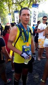Triathlon sprint, compétition du calendrier 2013 à Bali Indonésie Ligne d'arrivée