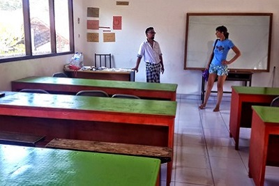 Bali autrement : Yayasan, association pour les enfants. Salle de classe Yayasan