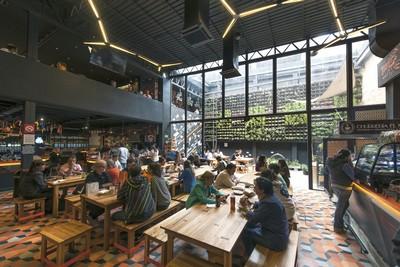 Amérique du sud : végétarisme et restaurants à Mexico Mercado roma
