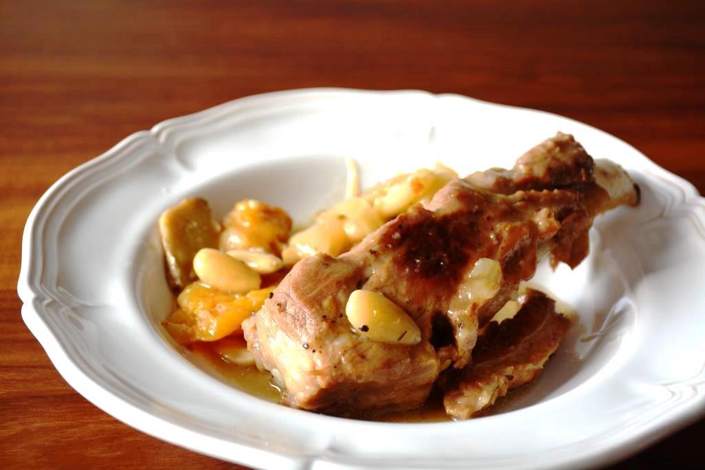 4 cocotte de porc aux abricots