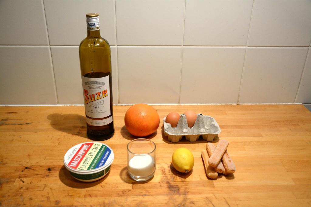 1. ingrédients tiramisuze