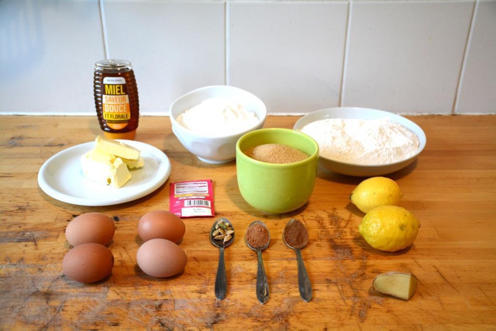 1. ingrédients pain d'épices