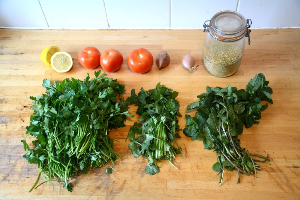 1. taboule ingredients