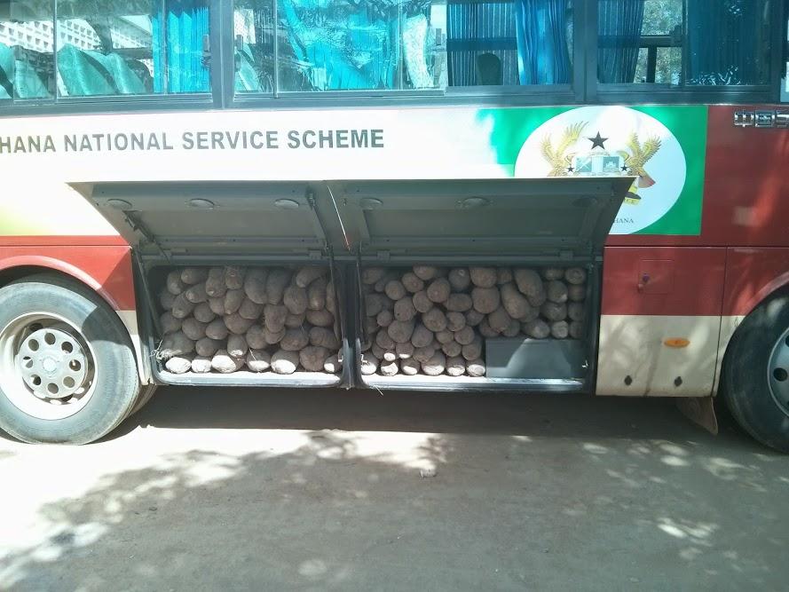 manioc dans un bus