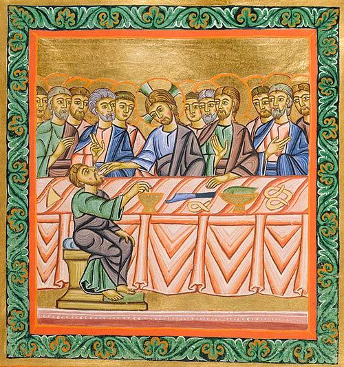 On voit dans ce document d'époque que Jésus lui-même s'enfilait des pleines plâtrées de bretzels avec ses disciples. Une sacrée bande de joyeux bambochards.