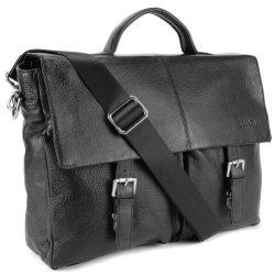 BOVARI-Messenger-en-cuir-Sac-bandoulire-39x30x10-cm-Model-Lyon-noir-0