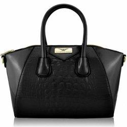 KCMODE-Dames-Designer-Celebrity-noir-Style-Femmes-Mock-Croc-cuir-sacoche-sac--main-0