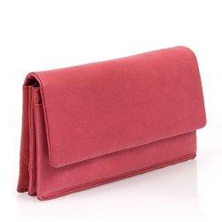 BOVARI-XL-Portefeuille-et-porte-monnaie-femme-20x11x3-cm-cuir-de-veau-supermou-vintage-rouge-0