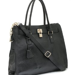 BOVARI-sac--main-Golden-Padlock-cuir-de-veau-37x30x16cm-noir-0