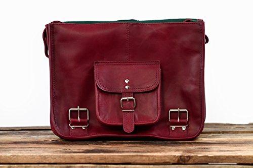 LE CARTABLE (M) cuir couleur Bordeaux sac bandoulière style Vintage ... 515ac4e4c1c