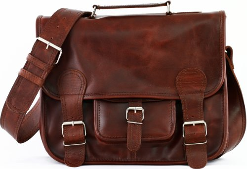 LE CARTABLE (M) cuir souple couleur brun d'automne format (A4) PAUL MARIUS 8ozF3iBzv