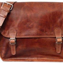 LA-SACOCHE-L-cuir-couleur-naturel-Besace-bandoulire-style-Vintage-A4-PAUL-MARIUS-Taille-L-0