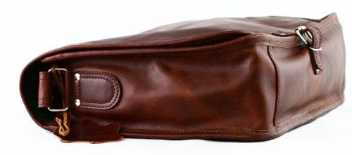 LE MESSAGER (L) cuir couleur brun d'automne sac bandoulière A4 style vintage PAUL MARIUS lM9hyk