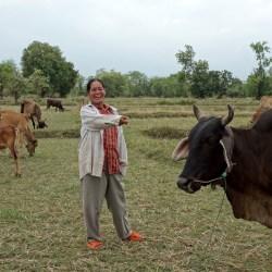 Une famille bénéficiaire du projet Cow Bank, un beau succès