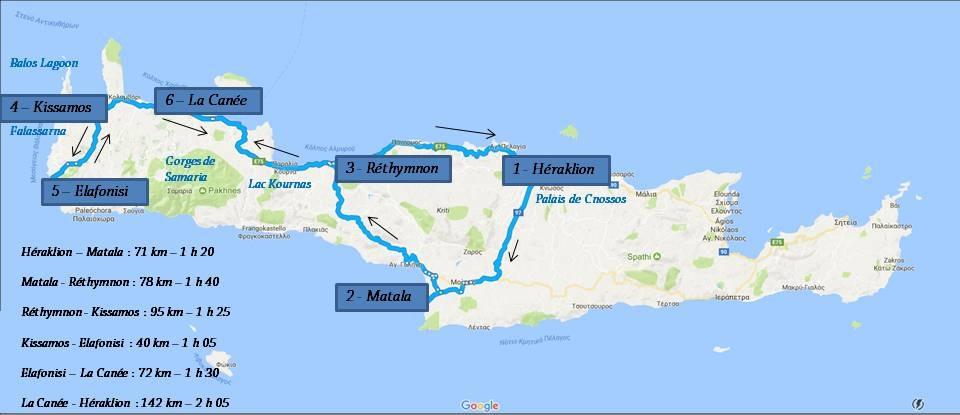 Itinéraire 10 jours en Crète