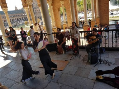 Place d'Espagne - spectacle de flamenco de rue - Séville