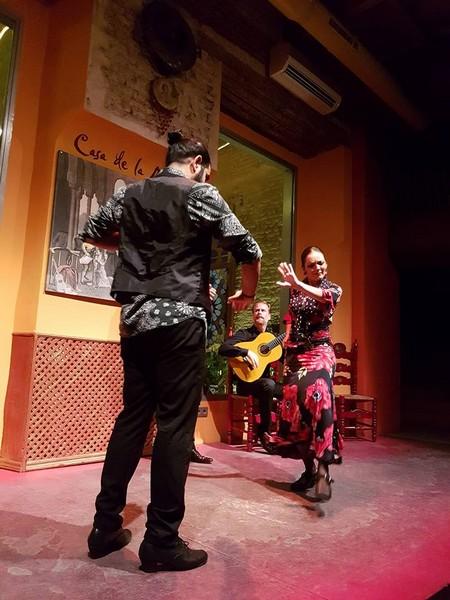 spectacle de flamenco à la Casa de la Mémoria - Seville
