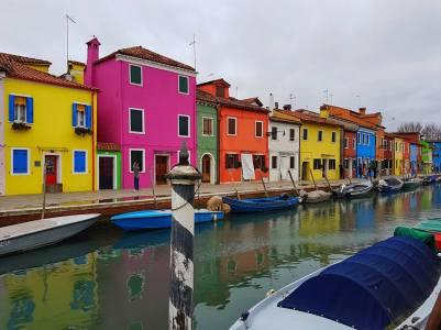 Burano maisons colorées