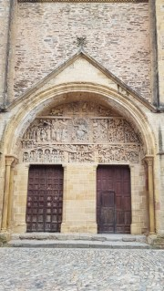 Le tympan de l'abbatiale de Sainte-Foy de Conques