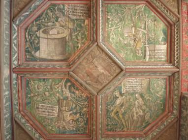 Le plafond alchimique - Château du Plessis-Bourré