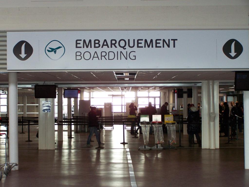 embarquement à l'aéroport