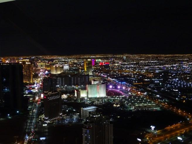 Vue sur Las Vegas depuis l'observatoire de l Stratosphère