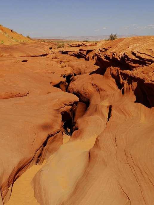 Antelope Canyon Lower vu d'en haut