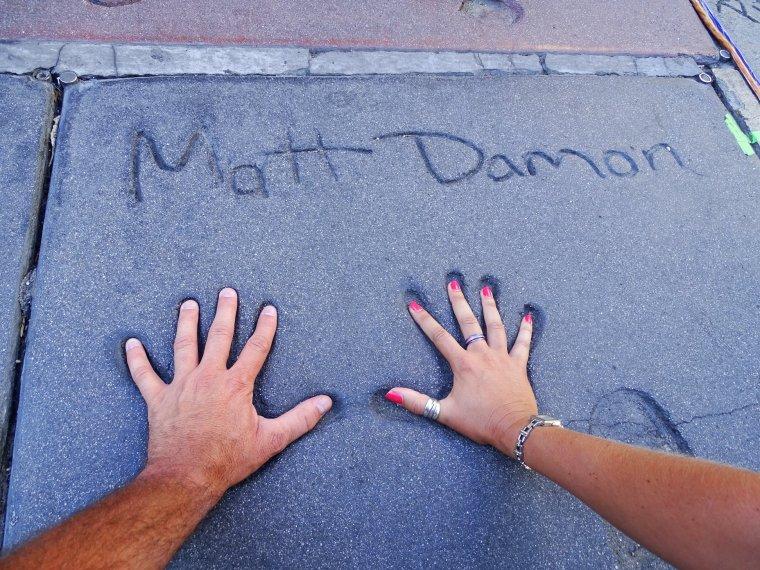 Empreintes de stars sur Hollywood Boulevard - Los Angeles