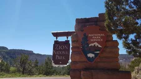 Entrée de Zion National Park