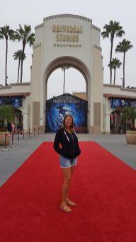 Tapis rouge devant l'entrée de Universal Studios