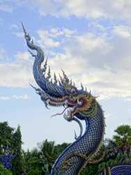 Wat Rong Suea Ten (Temple bleu) - Chiang rai