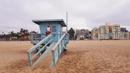cabine de sauveteur à Santa Monica
