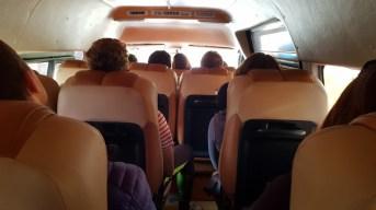 l'intérieur d'un mini van au Laos
