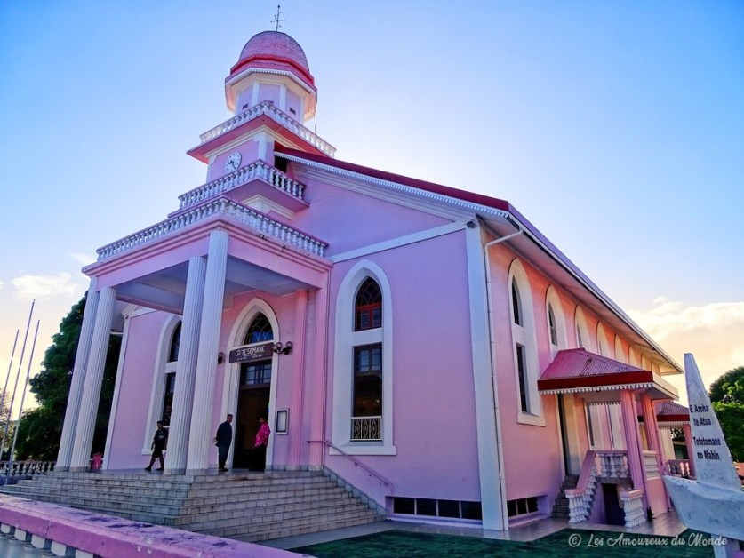 Eglise rose Tahiti