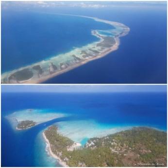 Atoll de Rangiroa vue du ciel