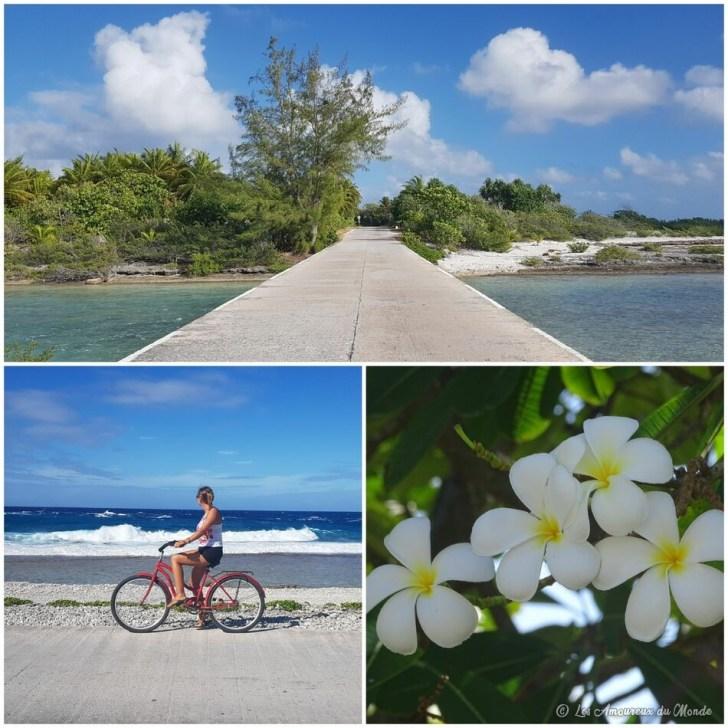 balade en vélo sur l'île de Rangiroa