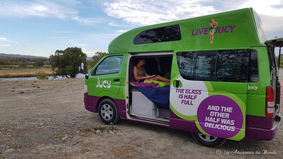 la vie en van en Nouvelle-Zélande
