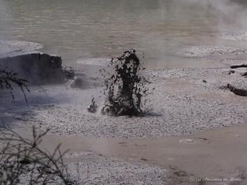 """""""Mud Pools"""" au Parc Wai-O-Tapu à Rotorua en Nouvelle-Zélande"""
