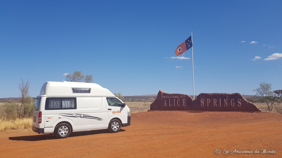 Notre van Apollo à Alice Springs