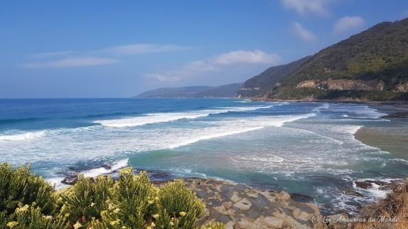 Plage en-dessous de Lorne Teddy's Lookout - Great Ocean Road - Australie