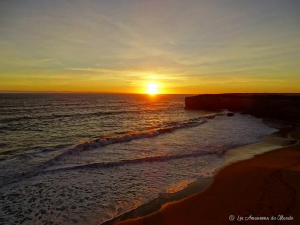 Coucher de soleil sur London Arch - Great Ocean Road - Australie