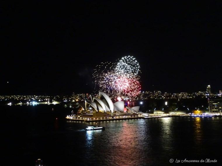 Feu d'artifice sur l'opéra de Sydney - Australie