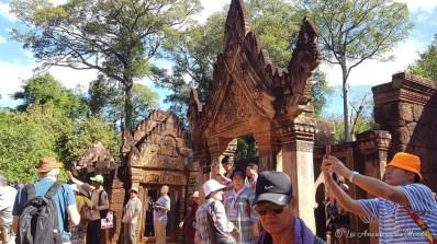Touristes chinois à Banteay Srei