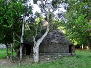Case typique du Centre Culturel Tjibaou en Nouvelle-Calédonie