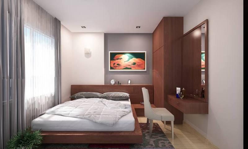 Phối cảnh phòng ngủ: Rộng và thoáng, lấy ánh sáng tự nhiên