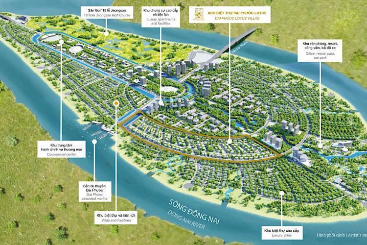 Phối cảnh tổng thể dự án khu đô thị Swan Bay