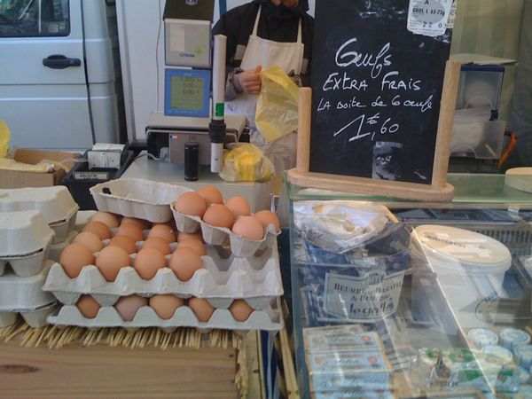 fresh eggs and dairy at raspail