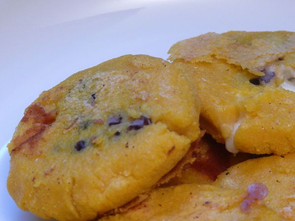 bean and oaxaca cheese arepas